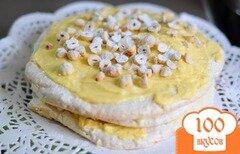 Фото рецепта: «Торт с ореховой меренгой»