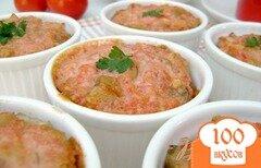 """Фото рецепта: «Порционная запеканка с баклажанами и мясом """"Красная шапочка"""":)»"""
