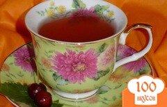 Фото рецепта: «Чай зеленый с персиком, вишней и мятой»