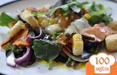 Фото рецепта: «Cалат с копченным лососем»