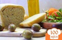 Фото рецепта: «Пресный тосканский хлеб. (Серый, формованный на закваске.)»