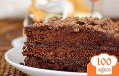 Фото рецепта: «Шоколадный торт на скорую руку»