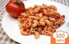 Фото рецепта: «Рожки в томатном соусе»