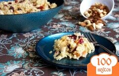 Фото рецепта: «Кускус с сухофруктами и орехами»