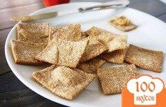 Фото рецепта: «Домашний соленый крекер из пшеничной муки»