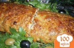 Фото рецепта: «Мясной рулет с макаронами»
