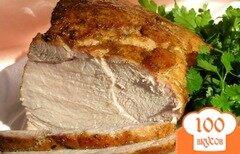 Фото рецепта: «Запеченная свинина с адыгейской солью»