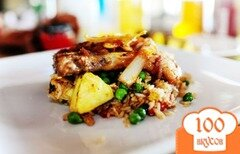 Фото рецепта: «Свиные ребрышки с рисом и ананасом»