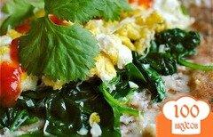 Фото рецепта: «Буррито с яйцом и шпинатом»