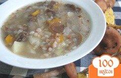Фото рецепта: «Суп из опят с гречкой»