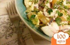 Фото рецепта: «Салат из крабового мяса и апельсинов»