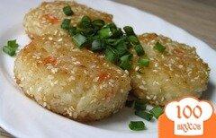 Фото рецепта: «Рисовые котлеты в кунжутной панировке (постные)»