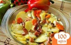 Фото рецепта: «Чихиртма с овощами и колбасой»