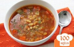 Фото рецепта: «Овощной суп с фасолью»