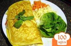 Фото рецепта: «Омлет с грибами, томатами и сыром»