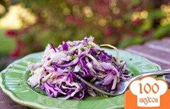 Фото рецепта: «Салат из двух видов капусты и огурцов»