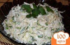 Фото рецепта: «Салат из капусты с редькой»