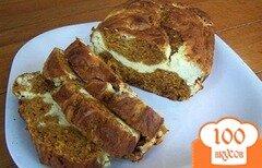 Фото рецепта: «Тыквенный хлеб с добавлением сливочного сыра»