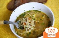Фото рецепта: «Постный гороховый суп с вермишелью»