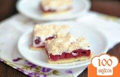 Фото рецепта: «Пирог с малиной и безе»