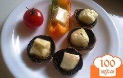 Фото рецепта: «Шампиньоны с сыром халуми»