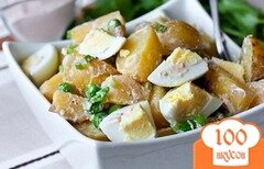 Фото рецепта: «Салат из яиц и картофеля»