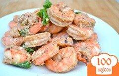 Фото рецепта: «Креветки с чесночным соусе»