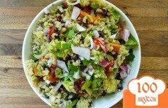 Фото рецепта: «Салат из киноа с фасолью и овощами»