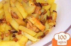 Фото рецепта: «Жареная картошка с шампиньонами»