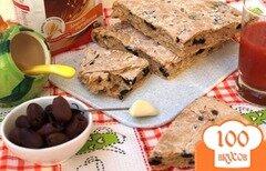 Фото рецепта: «Постная лепёшка с маслинами»