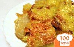 Фото рецепта: «Горбуша с картофелем в духовке»