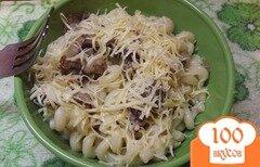 Фото рецепта: «Паста с беконом и сыром»