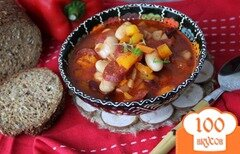 Фото рецепта: «Острый фасолевый суп с Chorizo»