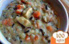 Фото рецепта: «Куриный суп с диким рисом»