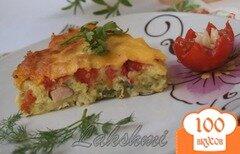 Фото рецепта: «Кабачковая запеканка с балыком и помидорами»