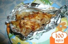 Фото рецепта: «Хек запеченный с луком и сыром»