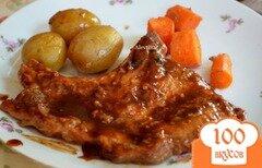 Фото рецепта: «Свиные отбивные в барбекю-соусе»