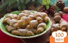 Фото рецепта: «Рогалики с орехами»