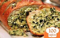 Фото рецепта: «Хлеб с начинкой из артишоков, феты и чеснока»