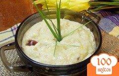 Фото рецепта: «Фасолевый суп -пюре с копчеными колбасками»
