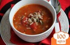 Фото рецепта: «Minestra di riso - итальянский рисовый суп с чечевицей»