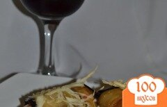 Фото рецепта: «Рулеты из баклажан со спагетти и сыром»