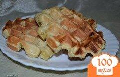 Фото рецепта: «Бананово-апельсиновые вафли»