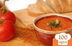 Фото рецепта: «Итальянский томатный суп с хлебом»