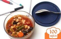 Фото рецепта: «Суп из фасоли и жареных овощей»