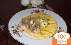 Фото рецепта: «Кукурузная каша с тунцом»