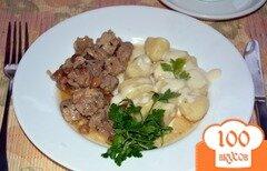Фото рецепта: «Картофельные кнели с соусом Бешамель»
