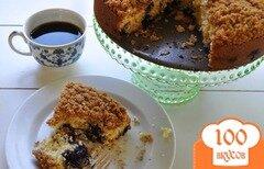 Фото рецепта: «Песочный пирог с черникой»