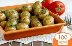 Фото рецепта: «Молодой картофель в рукаве»