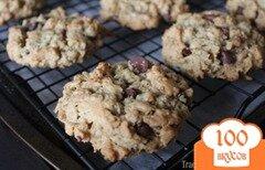Фото рецепта: «Шоколадно-арахисовое овсяное печенье»